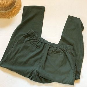 Forever 21 PLUS linen blend green pants